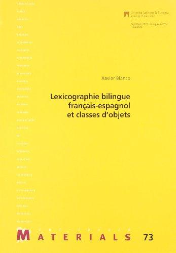9788449015724: Lexicographie bilingue fran�ais-espagnol et classes d?objets