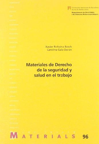 9788449020469: Materiales de derecho de la seguridad y salud en el trabajo