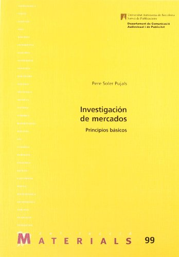 9788449022371: Investigación de mercados: Principios básicos (Materials)