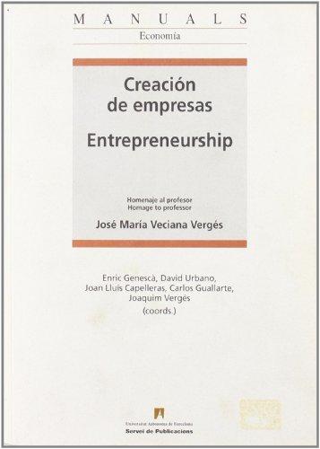 Creación de empresas / Entrepreneurship: Vergés, Joaquim (coords.);