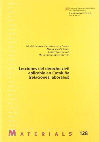 Lecciones del derecho civil aplicable en Cataluña