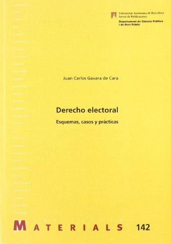 9788449023453: Derecho electoral : esquemas, casos y prácticas