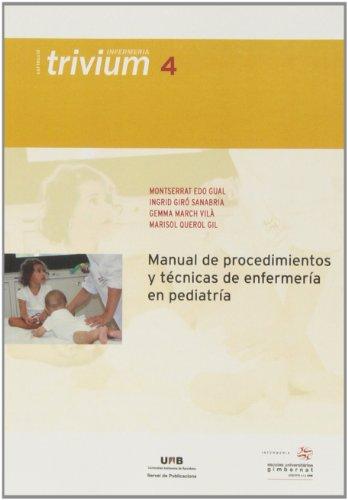 9788449026287: Manual de procedimientos y técnicas de enfermería en pediatría