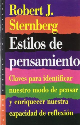 9788449306440: Estilos de pensamiento / Thinking Styles (Spanish Edition)