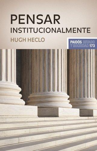 9788449323355: PENSAR INSTITUCIONALMENTE (Spanish Edition)
