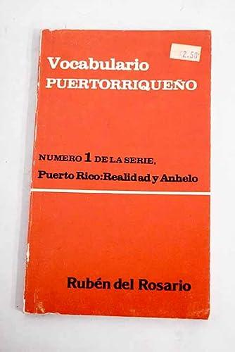 9788449909207: Vocabulario puertorriqueño (Puerto Rico, realidad y anhelo) (Spanish Edition)