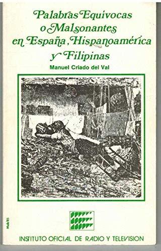 9788450525724: Palabras equivocas y malsonantes en España hispanoamericana y Filipinas