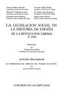 9788450565348: Legislacion social en la historiade España, la
