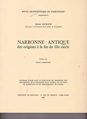 9788460000174: Revue archéologique de Narbonnaise, N° 8 : Narbonne antique des origines à la fin du IIIe siècle