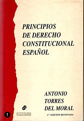 9788460433750: Principios de derecho constitucional español (Spanish Edition)