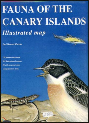 9788460435990: Fauna of the Canary Islands: Illustrated Map (Turquesa Guide Series)