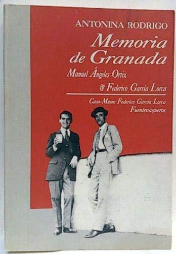 9788460465010: Memoria de Granada: Manuel Angeles Ortiz, Federico García Lorca (Spanish Edition)