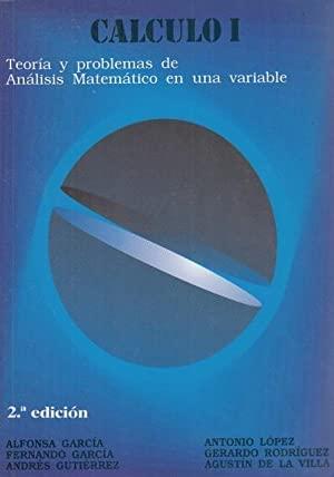 Calculo I: Garcia Lopez, Alfonsa