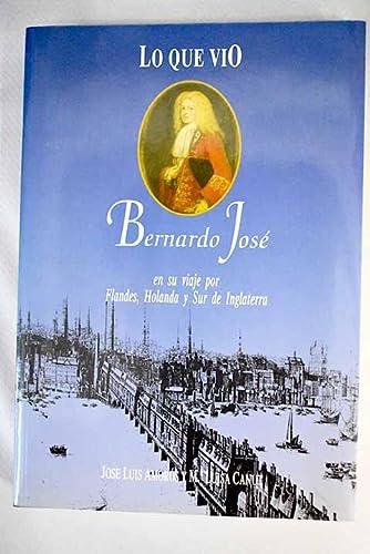9788460626107: Lo que vio Bernardo José en su viaje por Flandes, Holanda y Sur de Inglaterra (Spanish Edition)