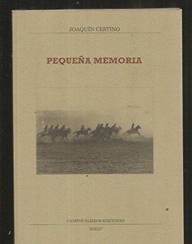 Pequeña Memoria: Joaquin Cestino Perez