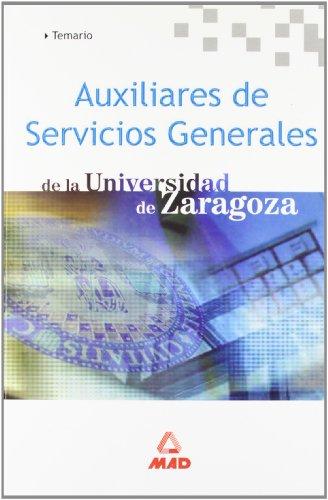 9788466530873: Auxiliares de servicios generales de la universidad de zaragoza. Temario.