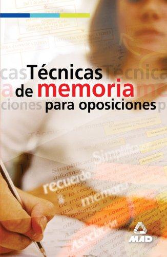 9788466546683: Técnicas De Memoria Para Oposiciones (Spanish Edition)