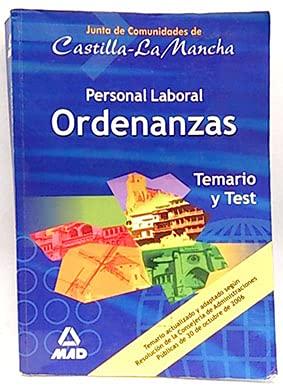 9788466565851: Personal Laboral Ordenanzas. Junta de comunidades de Castilla - La Mancha. Temario y Test