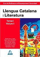9788466581721: Cos de professors d`ensenyament secundari. Llengua catalana y literatura. Temari. Volumen i