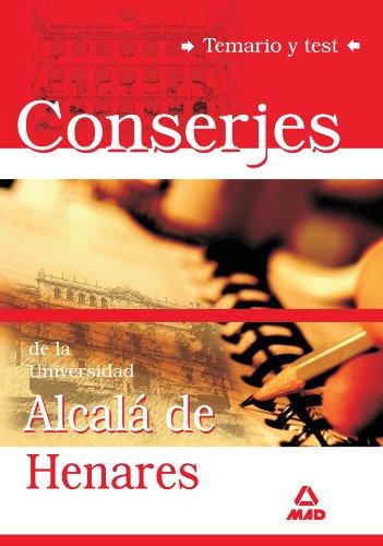9788466589185: Conserjes de la Universidad de Alcalá de Henares Temario y Test (Spanish Edition)