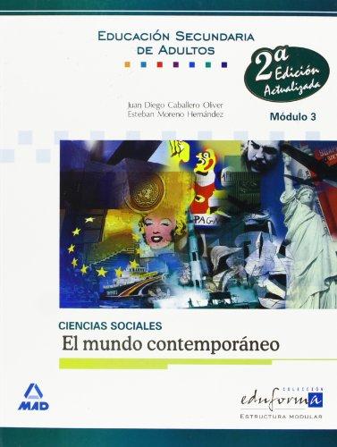 9788466596558: Ciencias sociales, el mundo contemporáneo, Educación Secundaria de Adultos