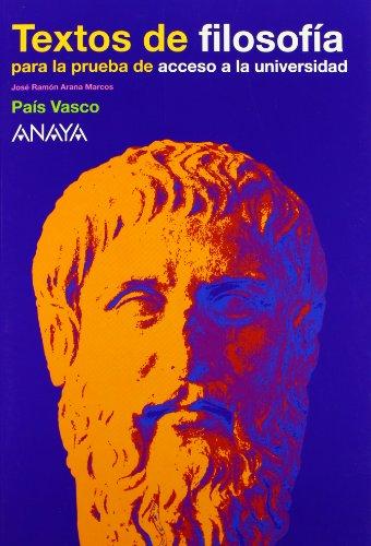 9788466741750: Textos de filosofía para la prueba de acceso a la Universidad