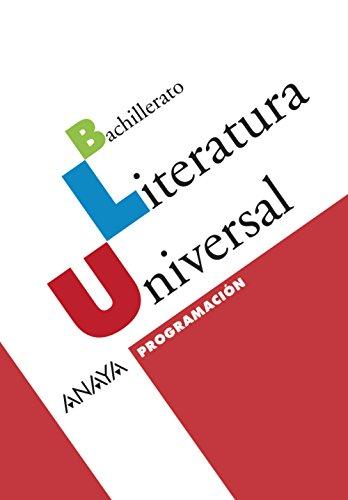 9788466775113: Literatura Universal. CD-ROM Programación.