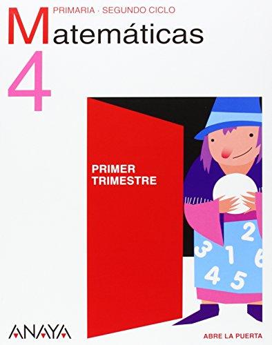 9788466783729: Matemáticas 4. 4º Educación Primaria. Libro del Alumno. Asturias, Cantabria, Castilla y León, Comunidad Valenciana, La Rioja, Madrid, Murcia