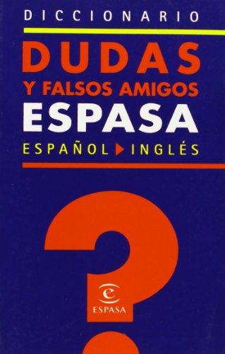 9788467014198: Diccionario Espasa de dudas y falsos amigos del inglés