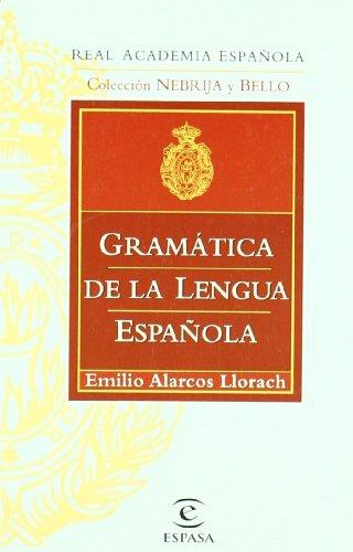 9788467032260: GRAMÁTICA DE LA LENGUA ESPAÑOLA (GRAMATICAS)