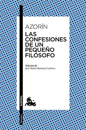 Las confesiones de un pequeño filósofo: Azorín