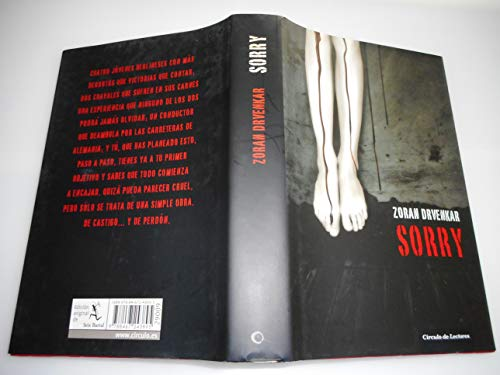 9788467243895: [ [ [ Sorry [ SORRY ] By Drvenkar, Zoran ( Author )Sep-20-2011 Hardcover