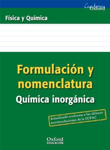 Física y química, formulación inorgánica, 3 ESO.: Manuel Rodríguez Morales