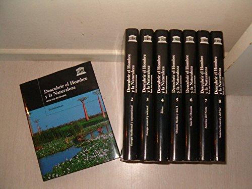 DESCUBRIR EL HOMBRE Y LA NATURALEZA. MAN AND BIOSPHERE. 8 TOMOS + 6 CARPETAS CON DVD: VV.AA