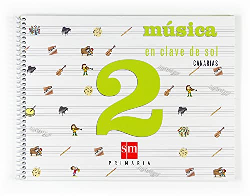 9788467512014: Música, En clave de sol. 2 Primaria. Canarias
