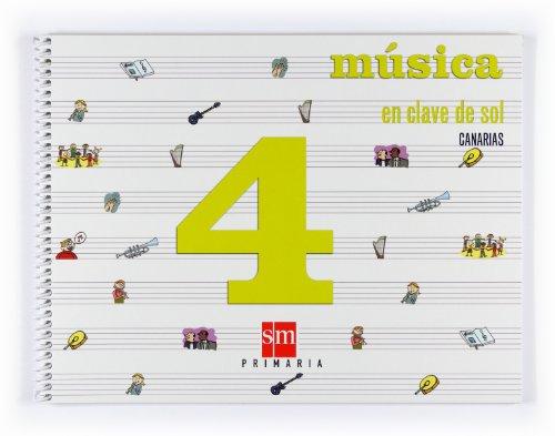 9788467523829: Música, En clave de sol. 4 Primaria. Canarias - 9788467523829