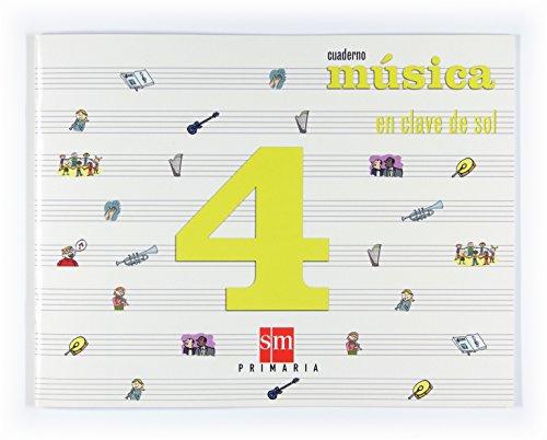 9788467526349: Música, En clave de sol. 4 Primaria. Cuaderno