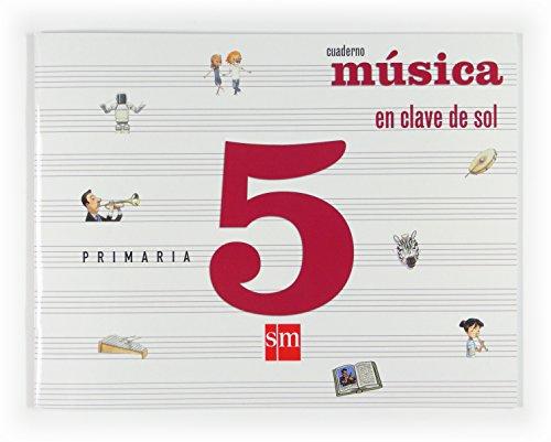 9788467533644: Música, En clave de sol. 5 Primaria. Cuaderno