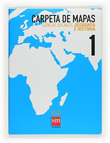 9788467534184: Ciencias sociales, geografía e historia. 1 ESO. Carpeta de mapas