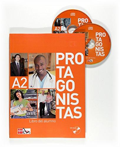 9788467535761: Protagonistas: Libro Del Alumno + Cuaderno De Actividades + Audio Cds (2) - A2
