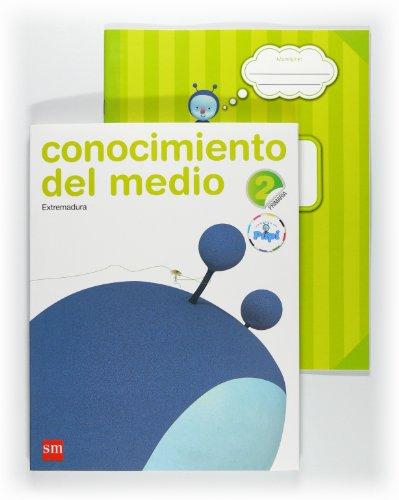 9788467546125: Conocimiento del medio. 2 Primaria. Conecta con Pupi. Extremadura