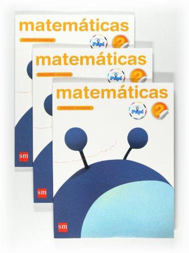 9788467546477: Matemáticas. 2 Primaria. Conecta con Pupi. 3 Trimestres - 9788467546477
