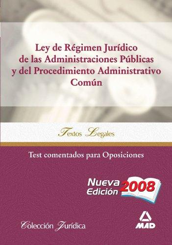 9788467602296: Ley de Régimen Jurídico de las Administraciones Públicas y Procedimiento Administrativo Común. Test comentados para Oposiciones (Spanish Edition)