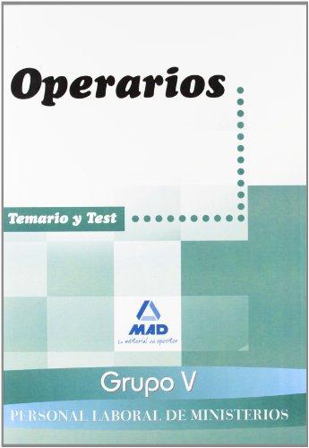 9788467610154: Personal Laboral Ministerios (Grupo V). Operarios. Temario Y Test
