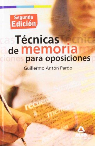 9788467628661: Técnicas de memoria para oposiciones.