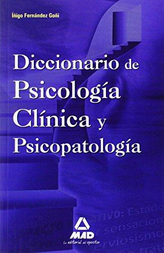 9788467637144: Diccionario De Psicología Clínica Y Psicopatología.
