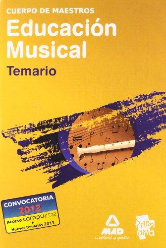 9788467647020: Cuerpo De Maestros. Educación Musical. Temario (Maestros 2013)