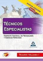 9788467650181: Técnicos Especialistas Del Instituto Nacional De Toxicología Y Ciencias Forenses. Temario. Volumen I