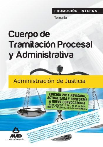 9788467658095: Cuerpo de Tramitación Procesal y Administrativa (promoción interna) de la Administración de Justicia. Temario (Spanish Edition)