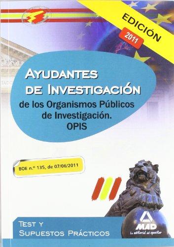 9788467666618: Ayudantes de Investigación de los Organismos Públicos de Investigación. Test y supuestos prácticos